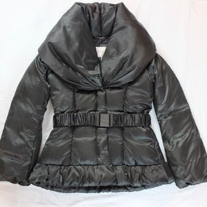 Laundry by Shelli Segal women's belted puffer